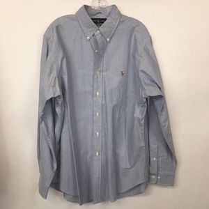 Ralph Lauren Classic Fit Button Up Shirt Blue